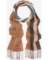 Bally - Solid Stripe Wool Mix Scarf - Lyst