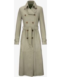 Bally - Calf Hair Trench Coat - Lyst