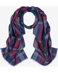 Bally - Tartan Checked Silk Scarf - Lyst