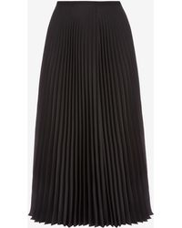 Bally - Silk Taffeta Pleated Skirt - Lyst