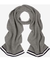 Bally - Ribbed Wool Scarf - Lyst
