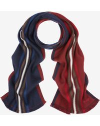 Bally - Double Faced Stripe Scarf - Lyst