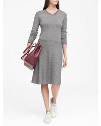 Banana Republic - Button-shoulder Sweater Dress - Lyst
