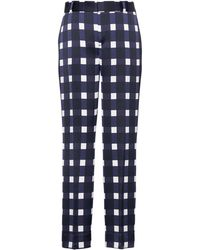 Banana Republic - Petite Avery Straight-fit Gingham Pant - Lyst
