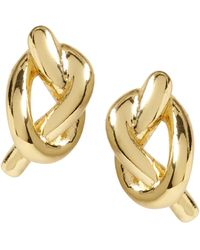 Banana Republic - Everyday Luxuries 14k Gold-plated Knot Stud - Lyst