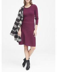 Banana Republic - Petite Button-shoulder Sweater Dress - Lyst