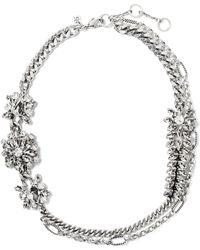 Banana Republic - Sparkle Flower Necklace - Lyst