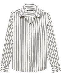 3e87bd014be5a Lyst - Banana Republic Quinn Straight-fit Zodiac Print Shirt in White