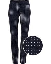 Banana Republic - Petite Sloan Skinny-fit Polka Dot Ankle Pant - Lyst