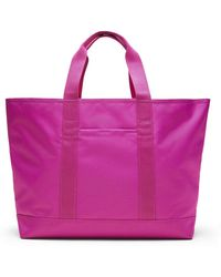 a5c053f38e53 Lyst - Banana Republic Pebbled Italian Leather Tote in Pink