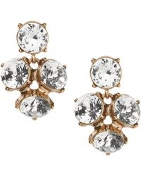 Banana Republic - Sparkle Cluster Drop Earring - Lyst