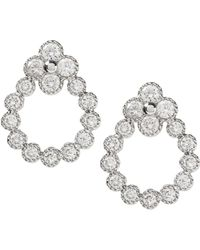 Banana Republic - Pave Open Drop Stud Earring - Lyst