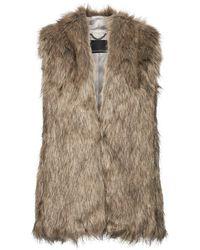 d9b2080435a Lyst - Banana Republic Faux-fur Vest in Brown