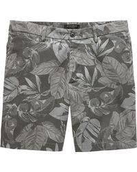 "Banana Republic - 7"" Stretch-cotton Aiden Slim Palm Print Short - Lyst"