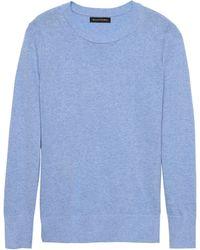Banana Republic - Italian Merino-blend Crew-neck Sweater - Lyst