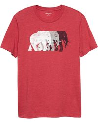 b6e5af61a32685 Lyst - Banana Republic Factory Elephant Logo Graphic T Shirt for Men