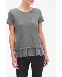 cac4901e8ed65e Banana Republic Factory - Pleat Flounce Hem Designer T Shirt - Lyst