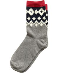 Banana Republic Factory - Fairisle Trouser Sock - Lyst