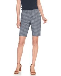 Banana Republic Factory - Tailored Abstract Geo Jacquard Bermuda Short - Lyst
