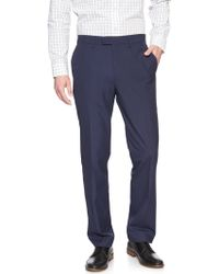 Banana Republic Factory - Commute Proof Standard-fit Blue Check Dress Pant - Lyst