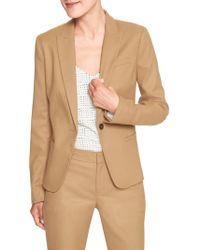 Banana Republic Factory - Petite Machine Washable Slim-fit Brushed Twill Classic Suit Blazer - Lyst