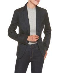 Banana Republic Factory - Machine Washable Plaid Ponte Cutaway Suit Blazer - Lyst