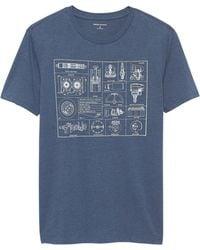 Banana Republic Factory - Car Parts Graphic T Shirt - Lyst