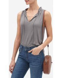 8681cc0fbf840 Lyst - Banana Republic Factory Jersey Turtleneck Top in Gray