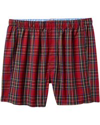Banana Republic Factory - Red Plaid Boxer - Lyst