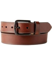 Banana Republic Factory - Stitched Brown Leather Belt - Lyst