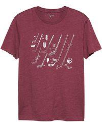 Banana Republic Factory - Hockey Graphic T Shirt - Lyst