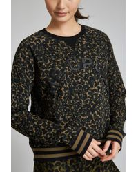 The Upside - Camo Leopard Cropped Sid Crew - Lyst