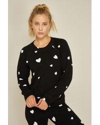 Monrow - Supersoft Raglan With Scattered Hearts - Lyst
