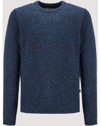 Baracuta - Tweed Crew Neck Sweater - Lyst