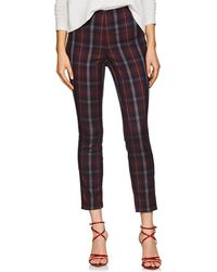 Rag & Bone - Simone Checked Cotton-blend Trousers - Lyst