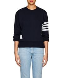 Thom Browne - Block-striped Cashmere-cotton Sweatshirt - Lyst