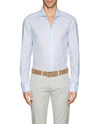 Barneys New York - Cotton Piqué Shirt - Lyst