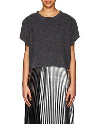 MM6 by Maison Martin Margiela - Sweatshirt-style Felted Wool-blend T - Lyst