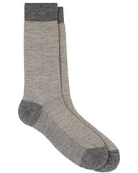 Barneys New York - Fine-striped Wool Mid - Lyst