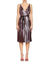 Robert Rodriguez - Sequin-striped Wrap-front Cami Dress - Lyst