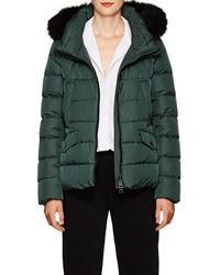Herno - Fox-fur-trimmed Down Short Puffer Jacket - Lyst