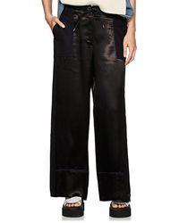 Sacai - Satin & Twill Wide-leg Trousers - Lyst