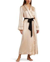 Kiki de Montparnasse - Amour Silk Robe - Lyst