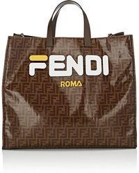 9bec8eca2b0 Fendi - Shopping Large Coated Canvas Tote Bag - Lyst