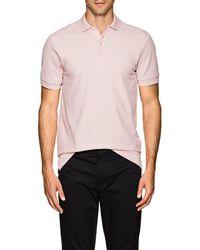 Barneys New York - Pima Cotton Piqué Polo Shirt - Lyst