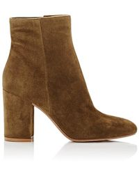 Gianvito Rossi - Rolling Suede Ankle Boots - Lyst