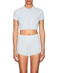 Live The Process - Knit Crop Polo Shirt - Lyst