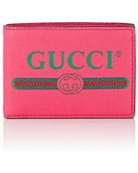 16c3e8a7c69 Lyst - Gucci Leather Logo Billfold in Blue for Men