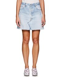 RE/DONE - High Rise Levi's® Miniskirt - Lyst