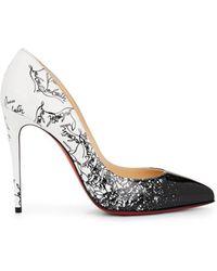 8d93dc915007 Christian Louboutin - Pigalle Follies Patent Leather Court Shoes - Black -  Lyst